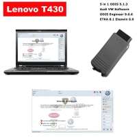 VAS 5054a Audi VW ODIS interface with V5.1.3 V5.1.3 ODIS download software is installed in the Lenovo T430 laptop and can be used directly