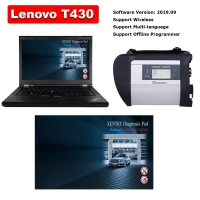 MB SD Connect C4 with wifi HDD& Lenovo T430 4G I5 Laptop Installed V2019.9 Mercedes Benz Xentry DAS EPC Complete Software
