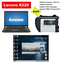 V2019.12 MB SD Connect C4 Doip with Lenovo X220 Laptop Installed Mercedes Xentry DAS Free DTS Vediamo & Monaco